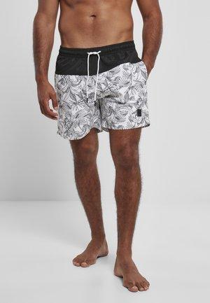 Plavky - jungle pattern black