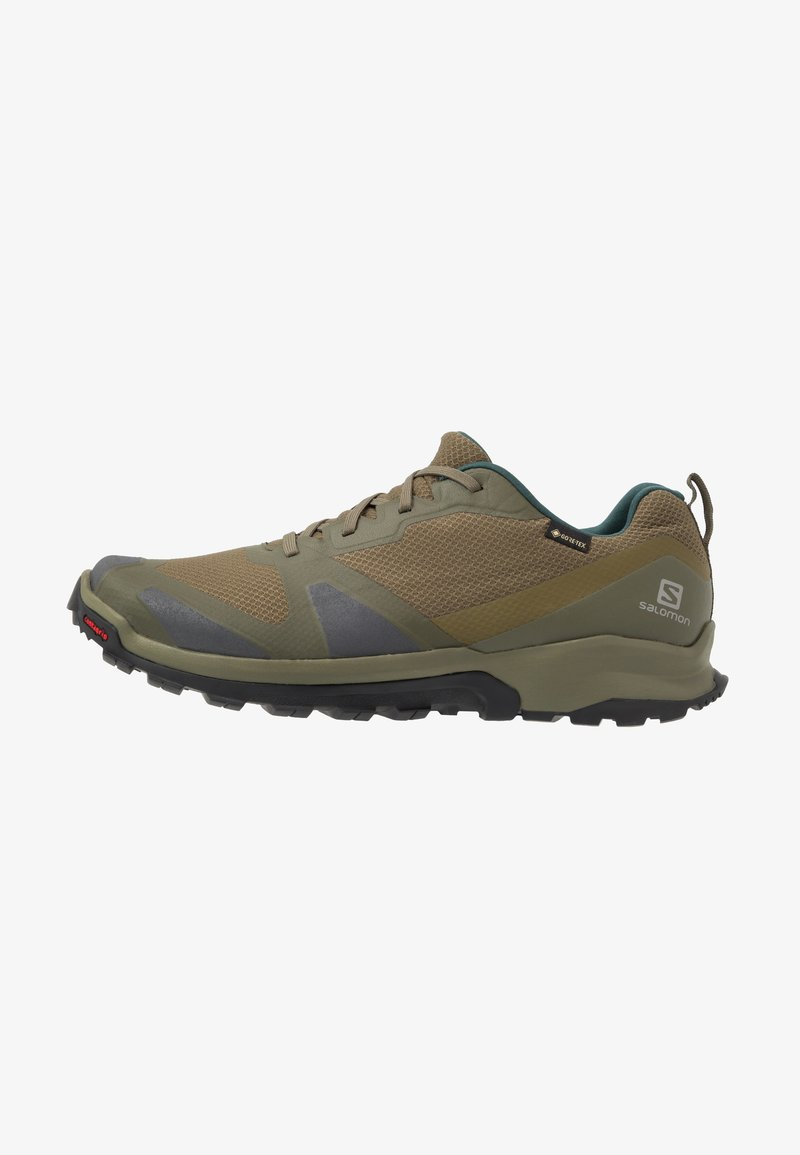 Salomon - XA COLLIDER GTX - Hiking shoes - olive night/phantom/burnt olive