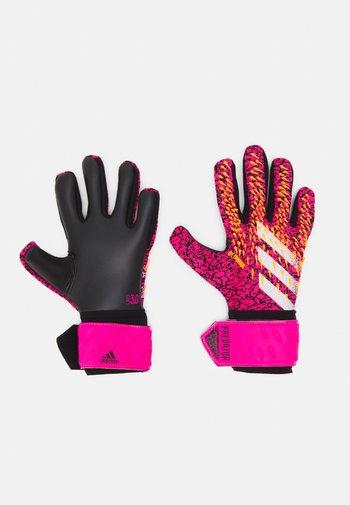 Predator GL LGE FOOTBALL GOALKEEPER GLOVES - Brankářské rukavice - black/shock pink/core purple