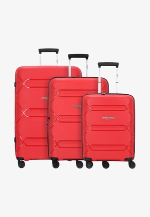 3PACK - Luggage set - red