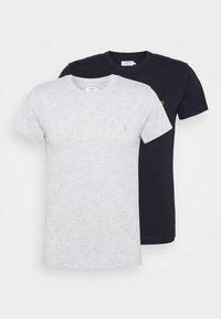 FARRIS 2 PACK - Jednoduché triko - grey marl/true navy