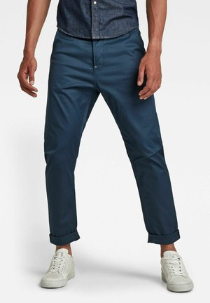 GRIP 3D RELAXED TAPERED - Stoffhose - luna blue
