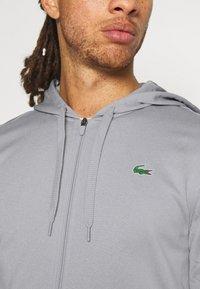 Lacoste Sport - TECH HOODIE - Zip-up sweatshirt - silver chine/elephant grey - 3