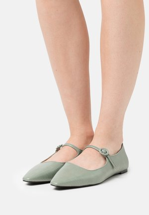 MARJORY - Ankle strap ballet pumps - shadow