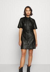 Object Petite - OBJPRIA L DRESS  - Denní šaty - black - 0