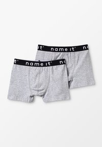 Name it - NKMBOXER SOLID 2 PACK - Pants - grey melange - 0