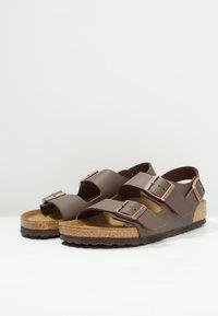 Birkenstock - MILANO - Sandals - dark brown - 2