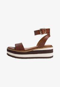 Tamaris - Platform sandals - cafe - 1
