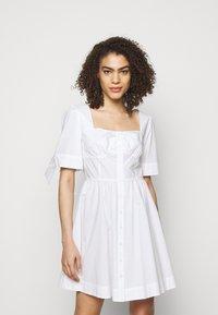 Pinko - ASSOLTO ABITO PESANTE - Day dress - white - 0