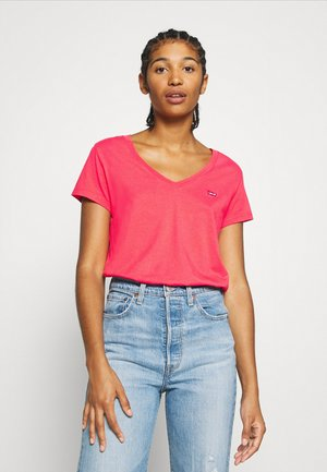 PERFECT V NECK - T-shirt basic - poppy red