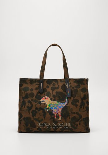 REXY IN SIGNATURE RAINBOW - Tote bag - brown
