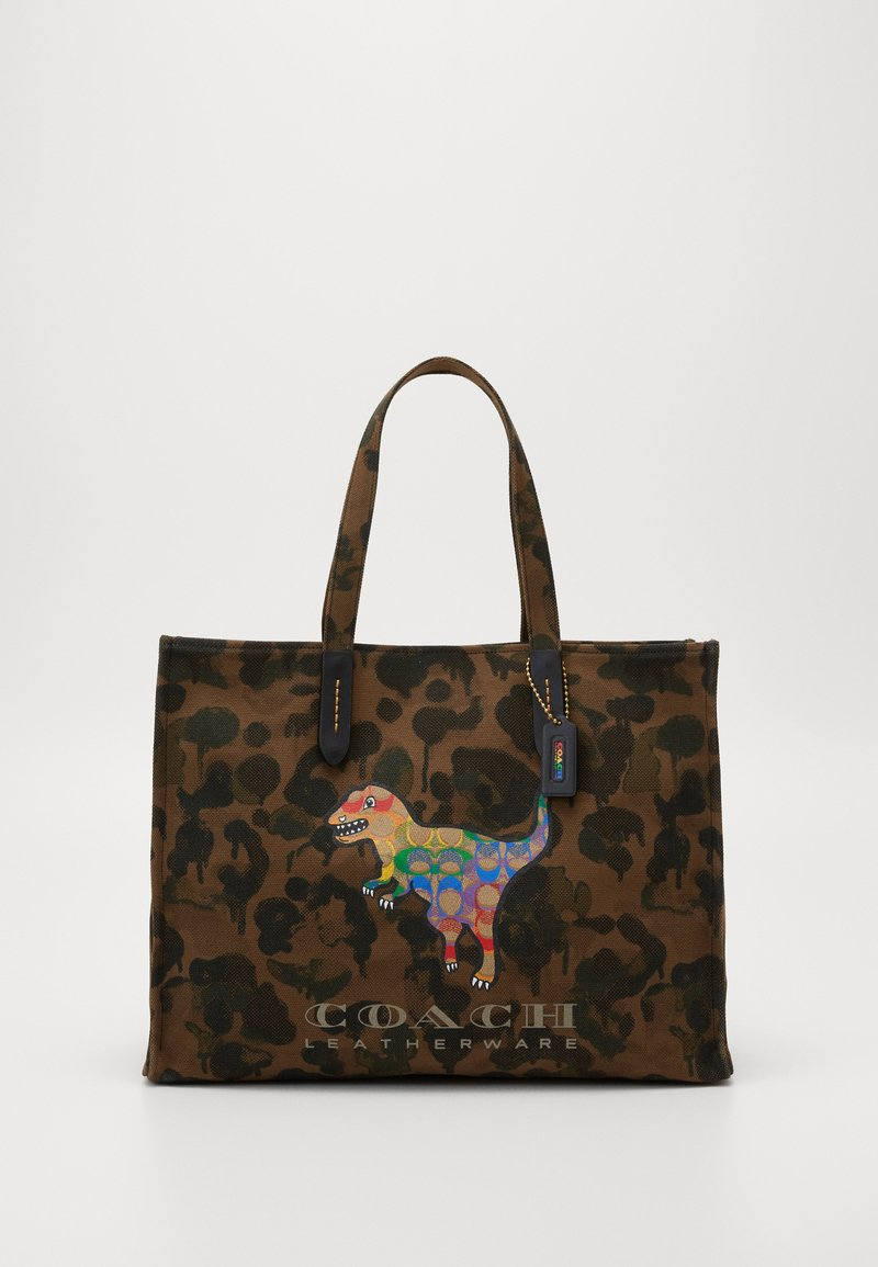 Coach - REXY IN SIGNATURE RAINBOW - Tote bag - brown