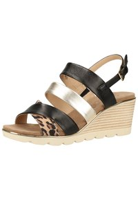 Caprice - Wedge sandals - leo comb 939 - 2