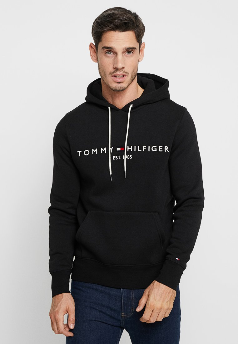 Tommy Hilfiger - LOGO HOODY - Sweat à capuche - black