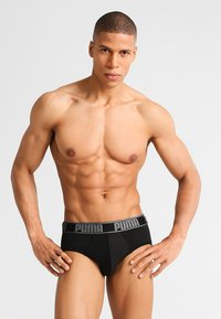 Puma - ACTIVE BRIEF 2 PACK - Slip - black/red - 3