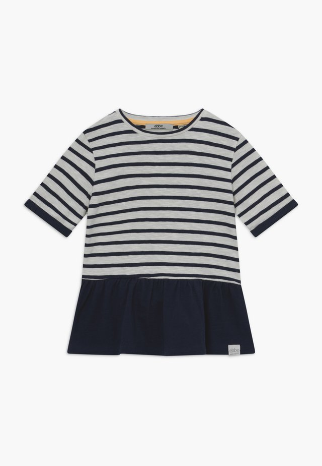 BENITA - Print T-shirt - offwhite/dark navy