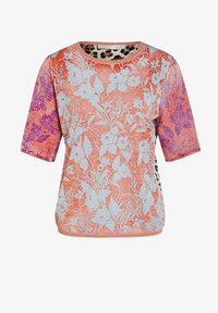 Oui - Print T-shirt - pink red - 4