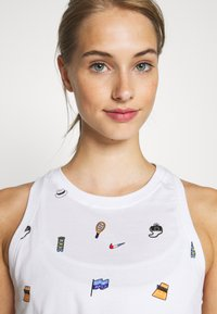Nike Performance - TANK CROP COURT - Topper - white - 4