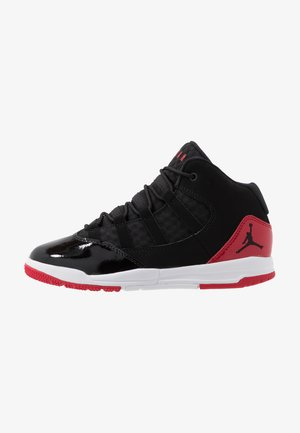 MAX AURA - Basketball shoes - black/gym red/white
