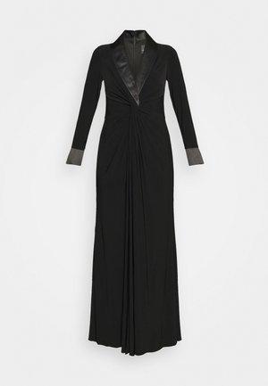TWIST TUXEDO GOWN - Robe en jersey - black