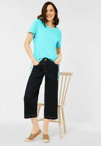 Cecil - Basic T-shirt - türkis - 0