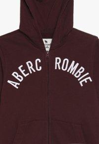 Abercrombie & Fitch - LOGO - Huvtröja med dragkedja - burgundy - 3