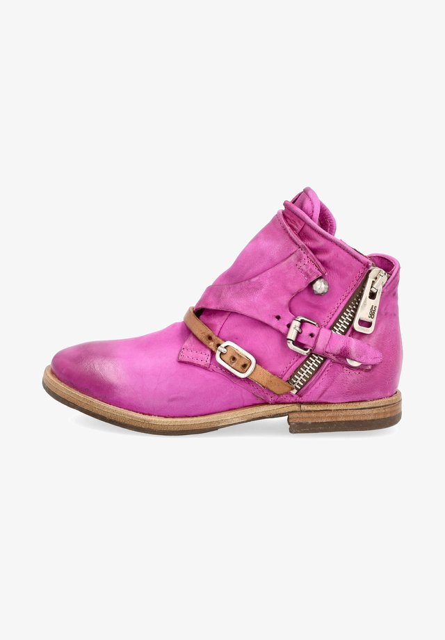 Cowboy/biker ankle boot - fuchs