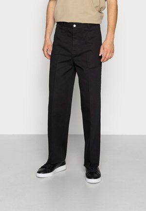 ROSS WIDE TROUSERS - Chinosy - black