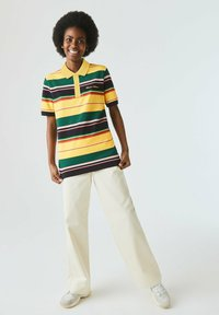 Lacoste LIVE - Polo shirt - jaune / blanc - 1