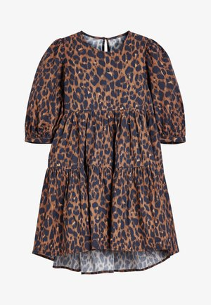 PUFF SLEEVE - Day dress - brown