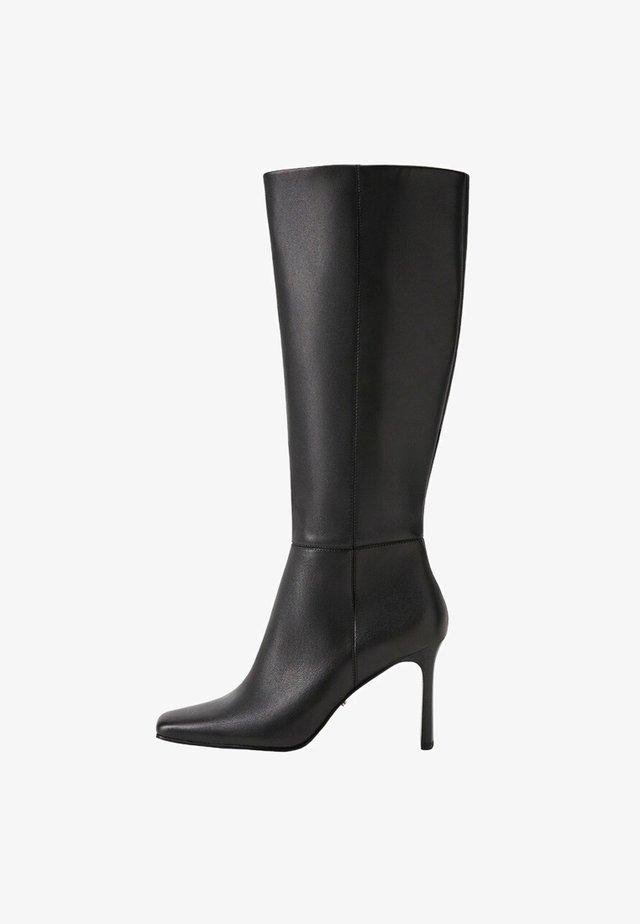 High heeled boots - zwart