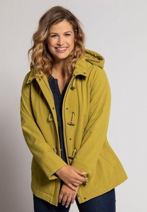 Soft shell jacket - donker mosterdgeel