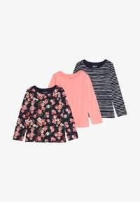 Zalando Essentials Kids - 3 PACK - Langærmede T-shirts - peacoat - 4