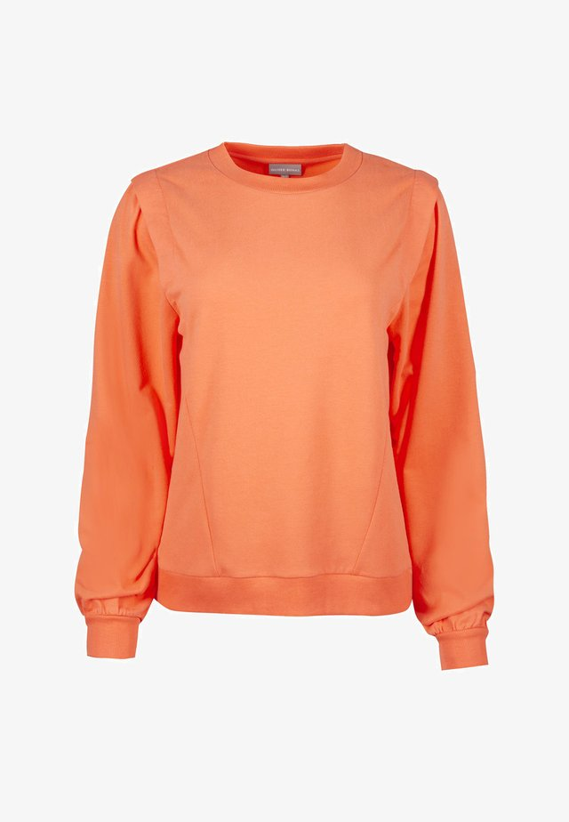 PLEAT SHOULDER DETAIL  - Sweatshirt - orange