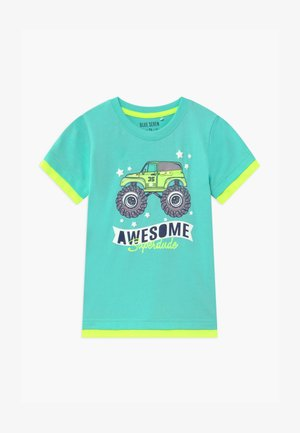 SMALL BOYS MONSTER TRUCK - T-shirt z nadrukiem - aqua