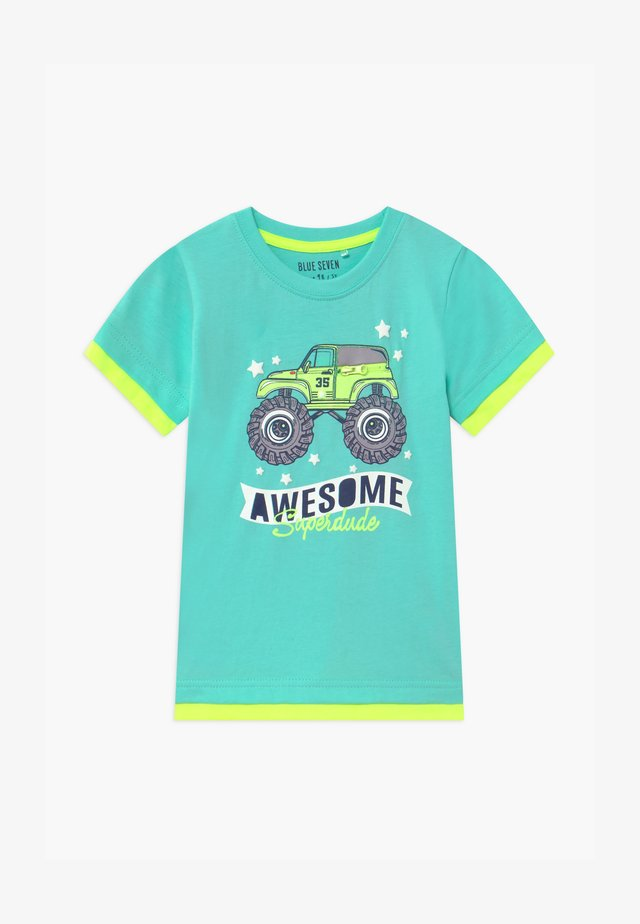 SMALL BOYS MONSTER TRUCK - T-shirt med print - aqua