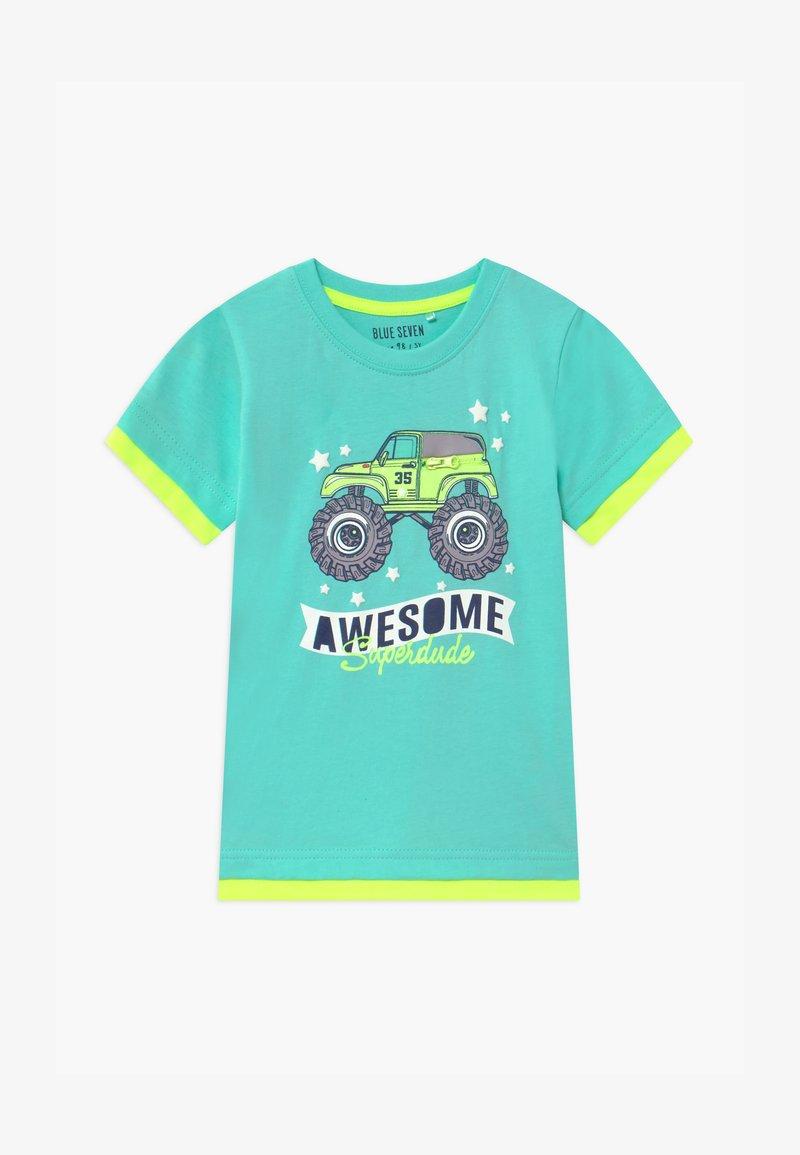 Blue Seven - SMALL BOYS MONSTER TRUCK - T-shirt print - aqua