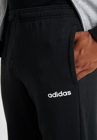 adidas Performance - ESSENTIALS SPORT COTTON TRACKSUIT - Tepláková souprava - medium grey heather/black - 7