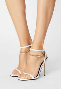 Even&Odd - LEATHER - High heeled sandals - white - 0
