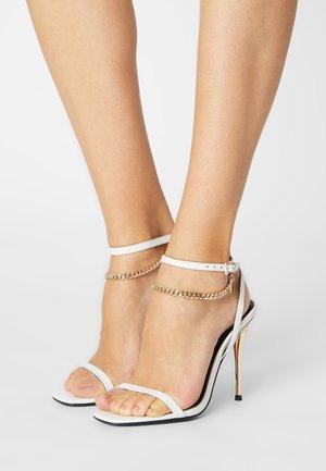 LEATHER - Sandalen met hoge hak - white