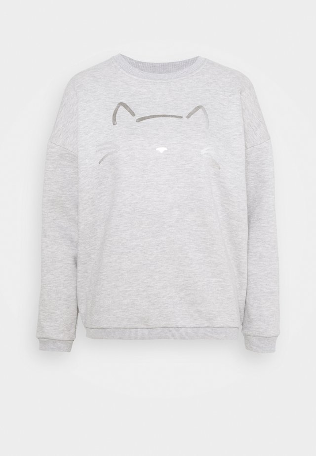 CAT PRINTED - Sweatshirt - grey melange