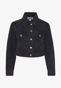 New Look Petite - MISSY CROP JACKET - Denim jacket - black - 4
