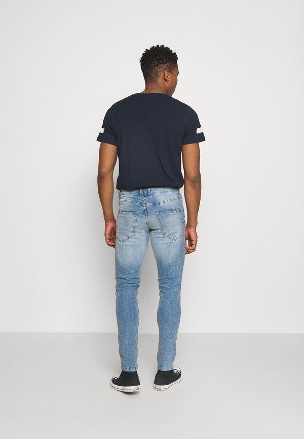 Redefined Rebel LYON - Jeansy Slim Fit - star blue/niebieski Odzież Męska OSVP