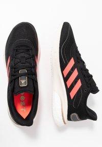adidas Performance - SUPERNOVA - Neutral running shoes - core black/signal pink/copper metallic - 1