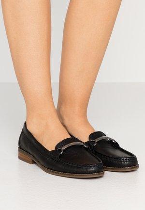 ELSIE - Nazouvací boty - black