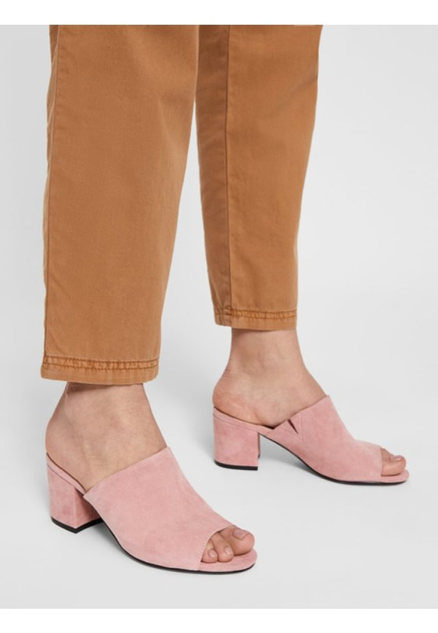 BIACATE - Heeled mules - light pink