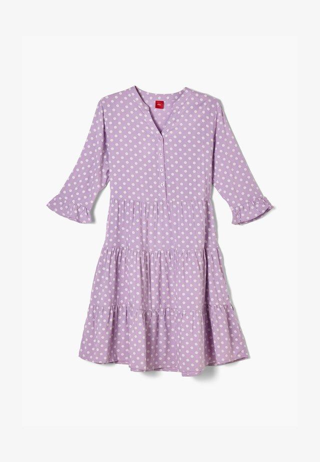 Korte jurk - purple aop