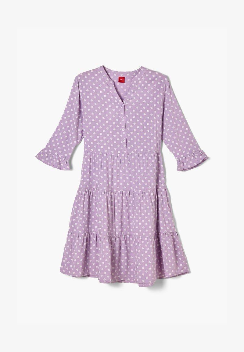 s.Oliver - Korte jurk - purple aop