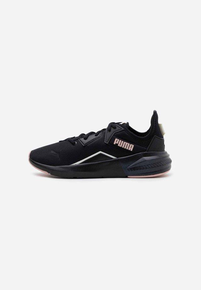 PLATINUM SHIMMER - Sportovní boty - black/peachskin