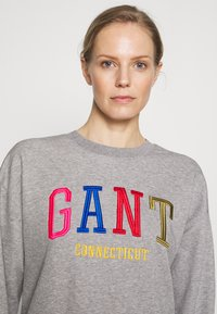 GANT - GRAPHIC - Sweater - grey melange - 4